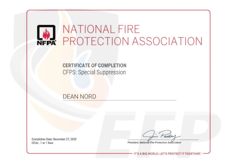DEAN NORD - Certificate of Completion CFPS Special Suppression-watermark